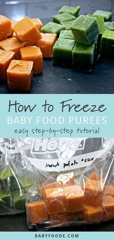 How To: Freeze Baby Purees Learn everything you need to know about storing and freezing homemade baby food recipes! You need just a few simple supplies to properly freeze and store baby food. This post walks you through every thing you ne Baby Puree Recipes, Pureed Food Recipes, Baby Food Recipes, Baby Bullet Recipes, Diet Recipes, Baby Food By Age, Food Baby, 4 Month Baby Food, Healthy Baby Food
