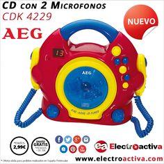 ¡¡Nueva colección KIDS LINE ideal para los peques de la casa!! CD con 2 microfonos AEG CDK 4229 http://www.electroactiva.com/aeg-cd-con-2-microfonos-cdk4229-kids-line.html #Elmejorprecio #CD #Electrónica #KidsLine #PymesUnidas