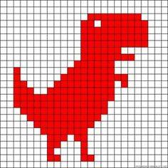 Knitting Charts Dinosaur Bead Patterns 54 Ideas For 2019 Tiny Cross Stitch, Beaded Cross Stitch, Cross Stitch Animals, Cross Stitch Designs, Cross Stitch Embroidery, Cross Stitch Patterns, Tapestry Crochet Patterns, Crochet Quilt, Perler Bead Art