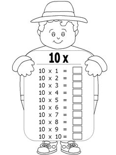 Maths Times Tables, Times Tables Worksheets, Math Classroom, Math Activities, Preschool Activities, Teaching Multiplication, Teaching Math, 3rd Grade Math Worksheets, School Coloring Pages