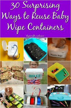30 Surprising Ways to Re-Purpose Baby Wipe Containers