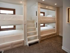 Cool bunk bed with stairs in Contemporary Other Metro with Bunk Bed With Stairs next to Queen Size Bed alongside Privacy Curtains and Bunk Beds Ideas