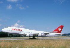 Swiss Air (Switzerland) Boeing 747 400, Boeing Aircraft, Aviation News, Civil Aviation, Plane Photos, Swiss Air, Jumbo Jet, Cargo Airlines, Airline Travel
