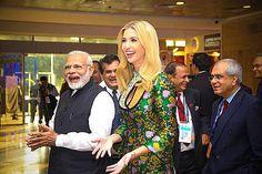 GE समिट में छाई इवांका की ड्रेस, मोदी ने गिफ्ट किया खास तोहफा