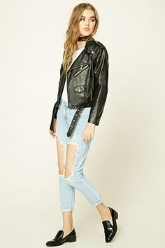 Cut Out Boyfriend Jeans from Forever 21 R329,00