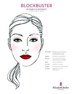 Elizabeth Arden Blockbuster Face Chart