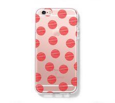 Big Fire Polka Dots iPhone 6 Case iPhone 6s Plus Case Galaxy S6 Edge Clear Hard Case C165