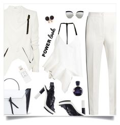 """""""power"""" by tato-eleni ❤ liked on Polyvore featuring Dolce&Gabbana, Helmut Lang, Ssheena, Alexandra de Curtis, Kaleos, Hermès and Lacoste"""