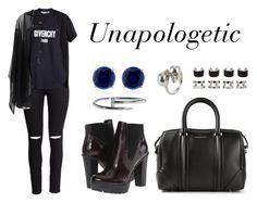 """""""Unapologetic"""" by anaelle2 ❤ liked on Polyvore featuring Steve Madden, H&M, Givenchy, Anna & Boy, CARAT*, Alexander McQueen and Maison Margiela"""