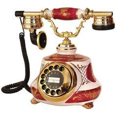 Porselen Tombul Bordo Beyaz  Telefon Telephone Retro, Vintage Phones, Old Phone, Audio Equipment, Good Old, Landline Phone, Inventions, Retro Vintage, Gadgets
