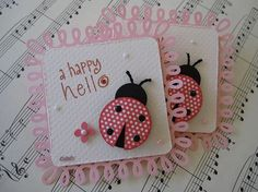 Cute Ladybug Embellishments - | http://creativehandmadecollections.blogspot.com