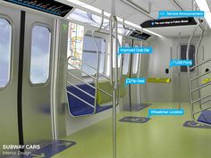 new york subway redesign wifi USB hubs new carriages