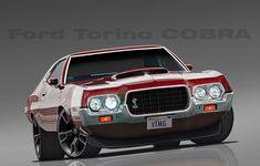 Ford Mustang, Ford Motor Company, Cadillac, Buick, Chevrolet Camaro, Pontiac Gto, Muscle Cars, Hot Rods, Grand Torino