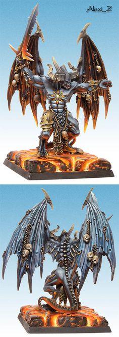 Warhammer 40k Daemons Chaos Sparines Bel'Lakor the Dark Master Daemon Prince