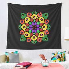 """Flower of Life Mandala"" Tapestry by Pultzar   Redbubble"