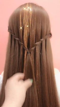 Down Hairstyles For Long Hair, Cute Simple Hairstyles, Braids For Long Hair, Girl Hairstyles, Diy Hair Treatment, Medium Hair Styles, Long Hair Styles, Hair Upstyles, Braided Hairstyles Tutorials