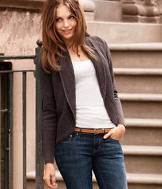 i like with the thin belt, can totally do this with stuff already in my closet!