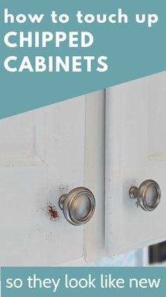 After a few years my painted cabinets were starting to get pretty scratched up. They still looked great from afar, but when you got a little closer, the paint was looking pretty rough. I'm sharing my simple process for touching up chipped cabinets so that your cabinets end up looking just as good as they did the day they were first painted. Including tricks to make sure the new paint blends exactly with the old. Diy Kitchen Remodel, Painting Cabinets, How To Look Pretty, Closer, Kitchen Ideas, Old Things, Touch, Simple, Tips