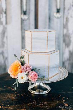 Baked Seattle Marble Wedding Cake