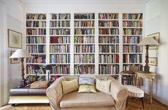 This irritatingly disheveled bookshelf.