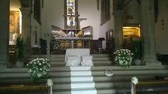 matrimonio: fiori per interno chiesa di Barberino