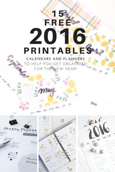 15 free printables to get you organized for 2016 • Geeky Posh