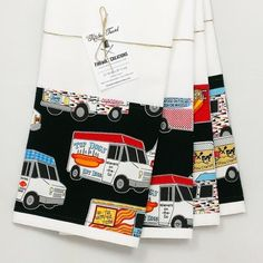 Food Truck Kitchen Towels!  back in stock! http://ift.tt/1LMhqo9  #chef #thursday #kitchen #funny #comic #foodtruck #mom #gift #teatowel #handcrafted #handmade #design #hamburger #foodporn #teatowels #foodie #gift  #fireboltcreations #etsy #shopping #food #etsyseller #etsyelite #decor #kitchendecor #kitchentowel #floursacktowels #kitchen #eat