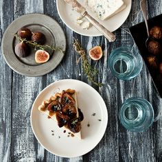 Blue Cheese Panna Cotta & Balsamic Roasted Fig Tart