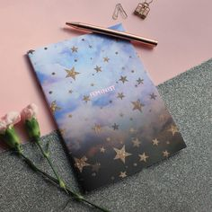 I've just found Feminist Cloudy Stars A5 Notebook. This celestial cloudy stars notebook has been given an extra magical touch with our luxury gold foil treatment!. £6.00