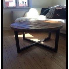 Sofabord, andet materiale, Cirkulæret sofabord i genanvendt