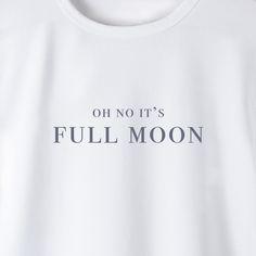 Vollmond Damenshirt Design by Eva Christl #fullmoon #vollmond #mondsichel #mondphasen #evachristl