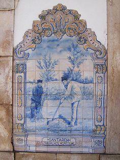 Painel de Azulejos: Trabalhos Agrícolas, Santarém