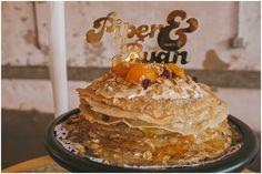 Crepe Wedding Cake | Bespoken Pancake Cake, Pancake Stack, Pancakes, Sunrise Wedding, Different Wedding Cakes, Wedding Cake Alternatives, Crepe Cake, Traditional Cakes, Fall Wedding Cakes