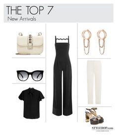 """The Top 7"" by stylebop ❤ liked on Polyvore featuring Mary Katrantzou, Salvatore Ferragamo, Valentino, Alexander McQueen, Maison Margiela and Stylebop"