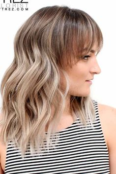 Shining Looks for Medium Hair with Bangs ★ See more: http://glaminati.com/medium-hair-with-bangs/