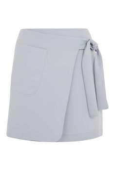 Utility Wrap Tie Mini Skirt