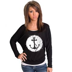 White Anchor Bella Dolman Long Sleeve. $30.00, via Etsy.