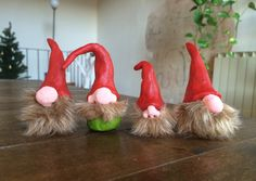 If you or someone you know happens to be in need of gnomes, then be sure to remedy the problem with this adorable DIY clay gnomes tutorial from Lucy of the surprise-aholic.