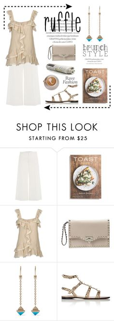 """Ruffling Up Brunch"" by conch-lady ❤ liked on Polyvore featuring RED Valentino, PHAIDON, Valentino and ruffles"