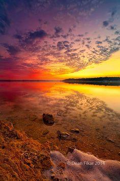 Benbrook Lake Sunset ~ glorious twilight landscape, North Texas by dfikar