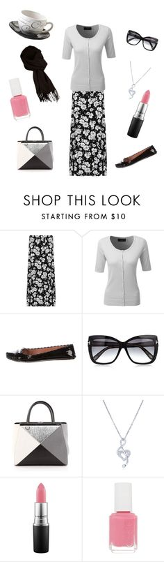"""Untitled #136"" by skylovessave ❤ liked on Polyvore featuring WearAll, LE3NO, Tom Ford, Fendi, BERRICLE, MAC Cosmetics, Essie and Price & Kensington"