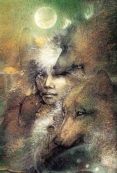 In the Company of Wolves (1993) by Susan Seddon Boulet WILD WOMAN SISTERHOOD™