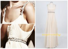 Ivory long prom dresses 2014 Spaghetti straps by BestforWedding, $115.90
