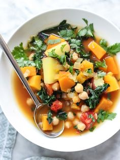 Moroccan Soup with Kale and Chickpeas Plus 5 Vegetarian Soups That Even Meat Eaters Will Love