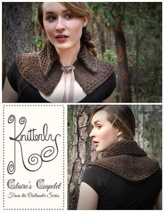 Claire's Capelet Knitting Pattern | Outlander Inspired Knitting Patterns at http://intheloopknitting.com/outlander-inspired-knitting-patterns/