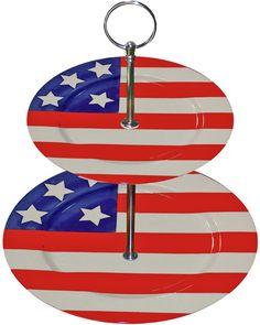 Premium Patriotic 2-Tier Plate