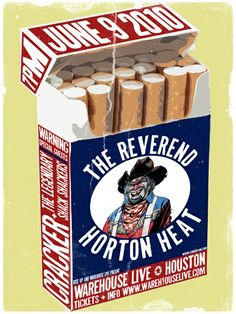 The Reverend Horton Heat by Jason Mcelweenie | Concert Posters