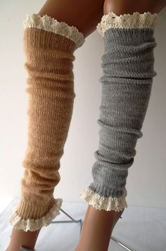 SOCKS   Leg Warmers Boot Socks Winter Socks #ESCHERPE #SCARVES