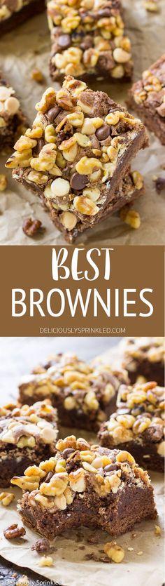 HE BEST BROWNIE RECIPE!! So easy to make & everyone always loves them!!#brownies#recipe#desserts