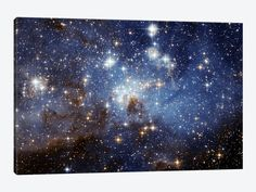 """Star Formation Epic Graffiti """"LH 95 Star Cluster"""" Hubble Space Telescope Giclee Photographic Print on Wrapped Canvas Size: - Star Formation, Cosmos, Hubble Space Telescope, Space And Astronomy, Nasa Space, Image Ciel, Space Photography, Bubble Photography, Hubble Images"""